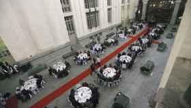 La galería de cristal del Ayuntamiento, durante la cena del año pasado