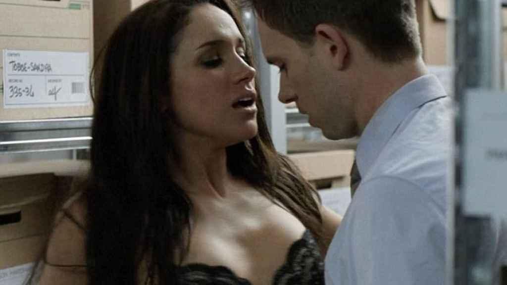Meghan Markle en una intensa escena de la serie Suits