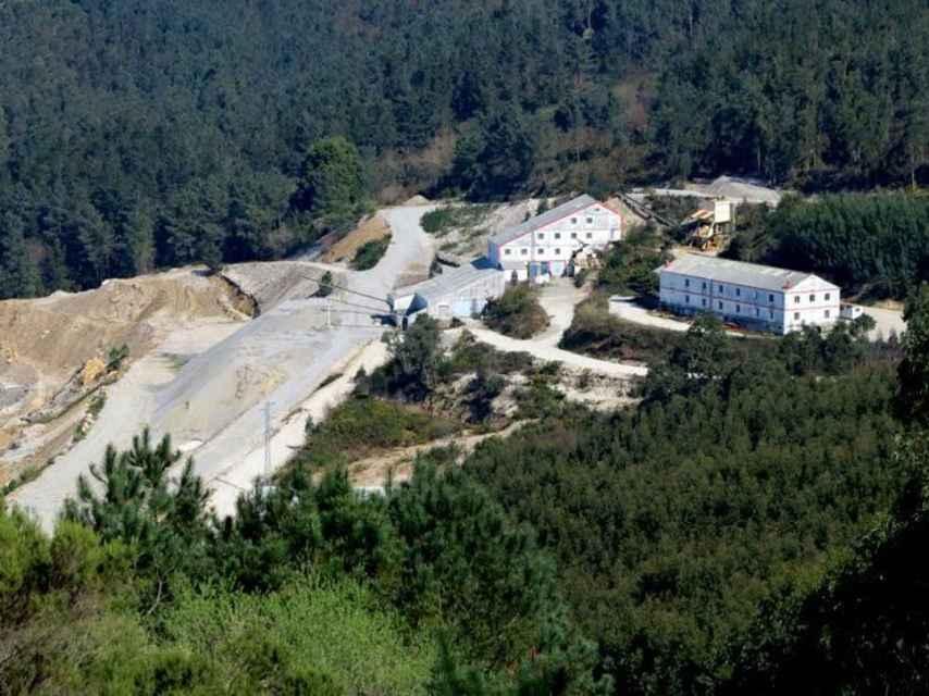 La mina de San Finx, en el monte de Lousame