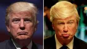 Donald Trump y Alec Baldwin como su parodia