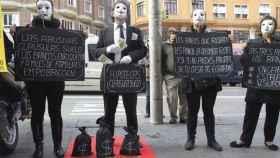 Una protesta contra las cláusulas suelo.