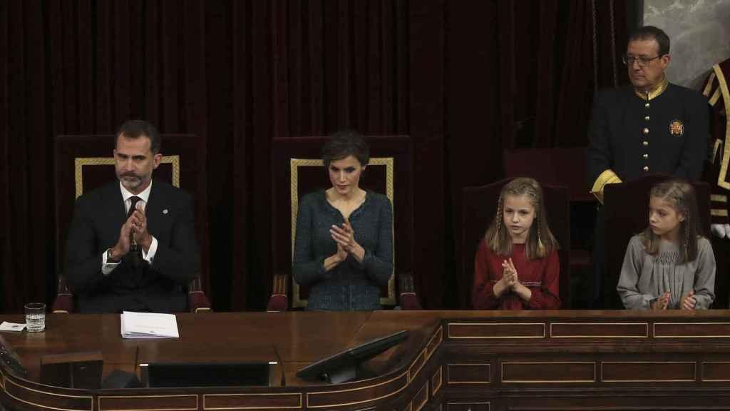 Letizia, durante la apertura de las Cortes en el Congreso.