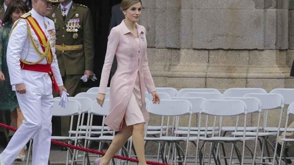 Letizia, durante un acto militar en Salamanca.