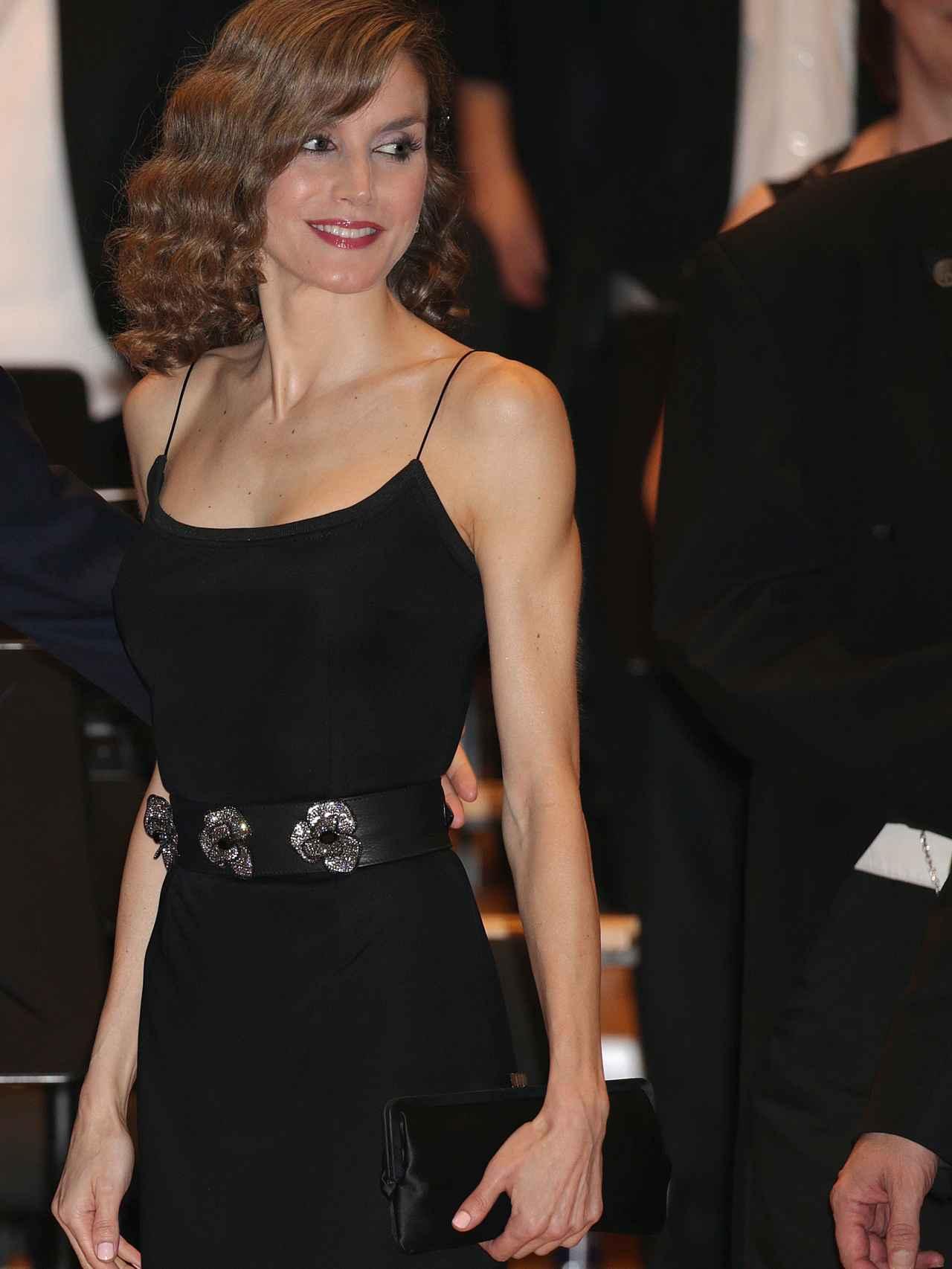 Letizia, en el concierto previo a la entrega de premios Princesa de Asturias.