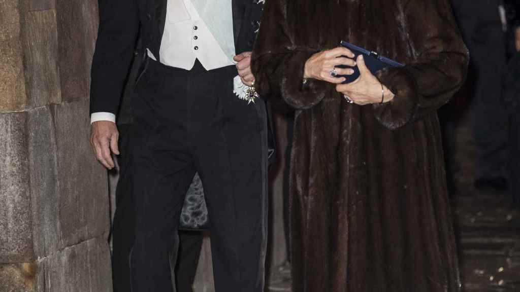 El matrimonio, a principios de semana, durante un acto oficial en Suecia.