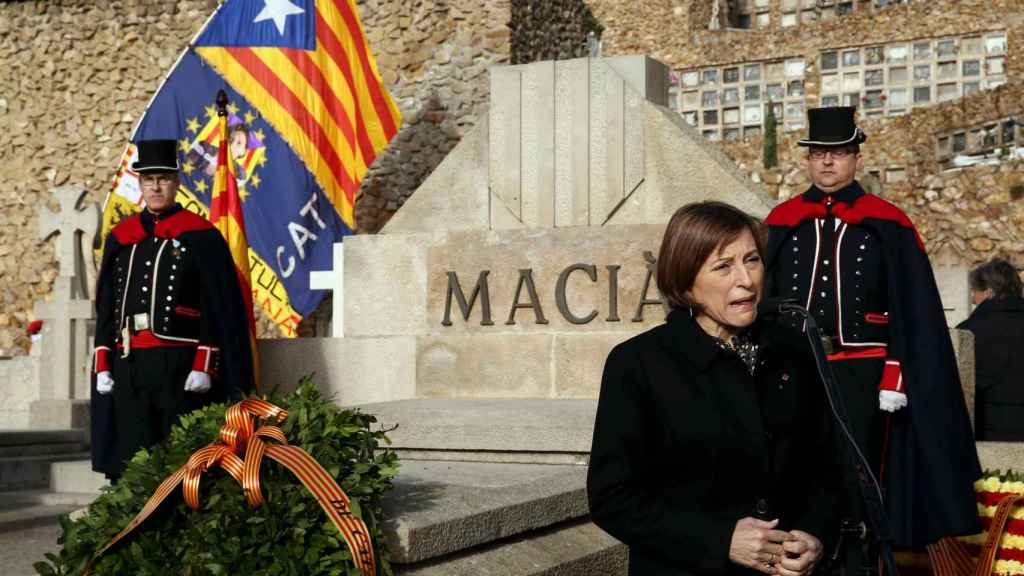 Carme Forcadell en el homenaje a Maciá