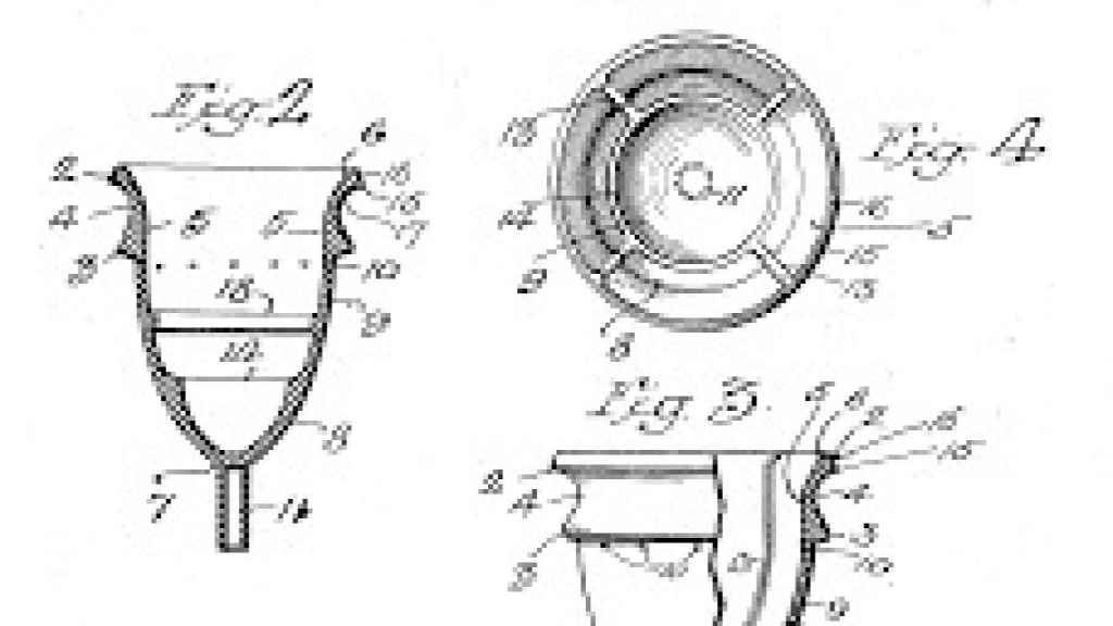Primera patente de la copa menstrual