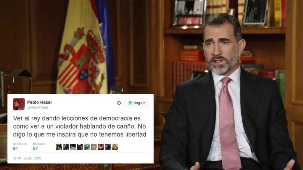 El tuit del rapero Pablo Hasel / El discurso de Navidad de Felipe VI
