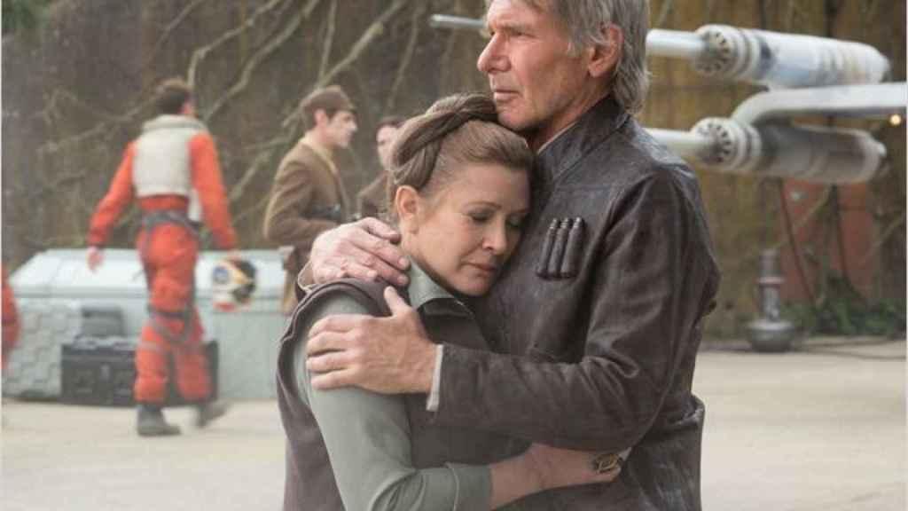 Carrie Fisher en la película 'El despertar de la Fuerza'.