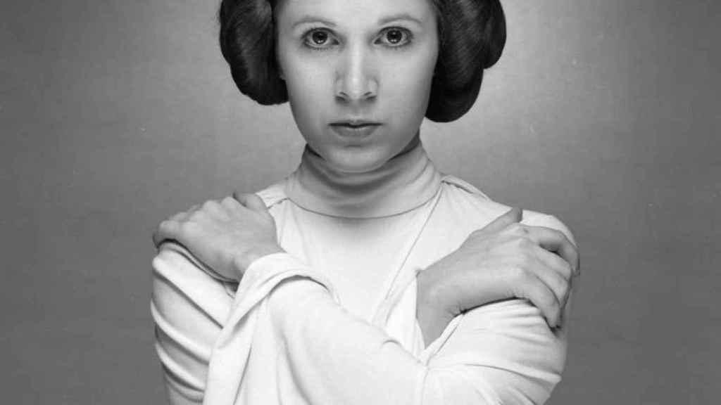 Carrie Fisher como princesa Leia.