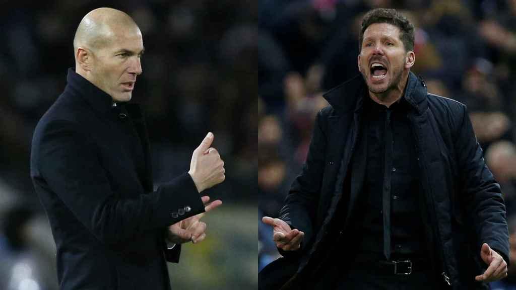 Zidane, a la izquierda, y Simeone, a la derecha.