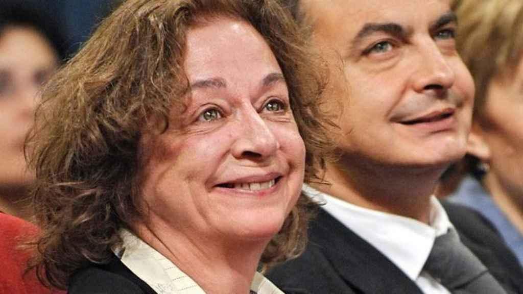 La actriz Emma Cohen, junto a José Luis Rodriguez Zapatero