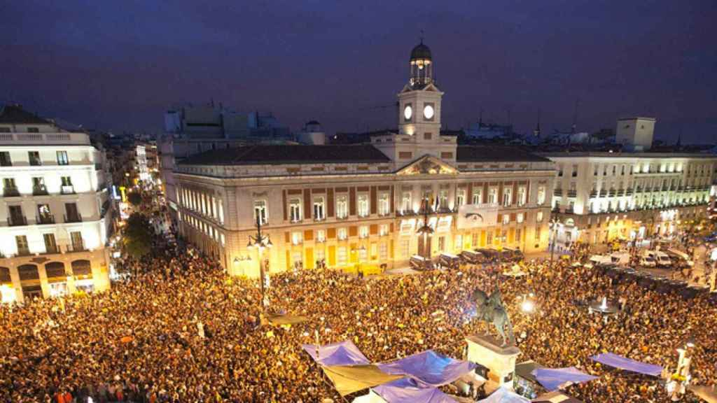 La Puerta del Sol en Nochevieja