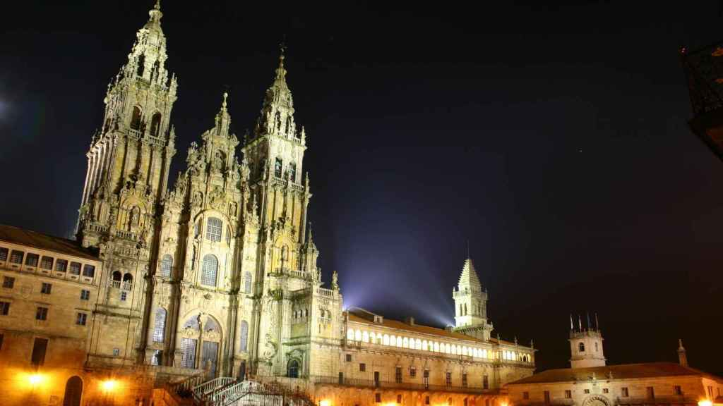 Catedral de Santiago de Compostela en la plaza del Obradoiro.