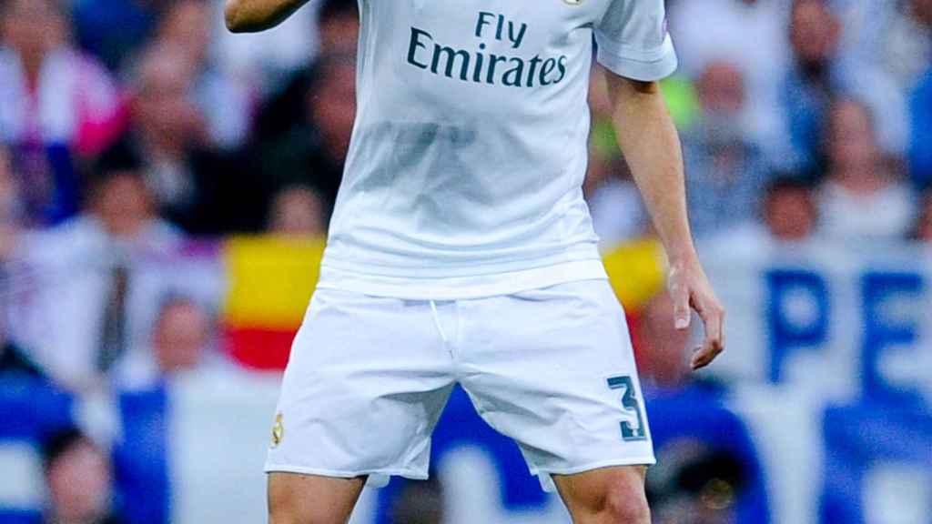 Pepe en un partido de este año con el Real Madrid.