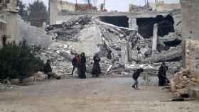 La devastada ciudad de Alepo