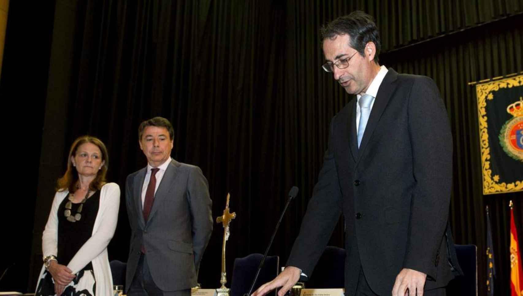 Fernando Suárez, rector de la Universidad Juan Carlos, el día de su toma de posesión.