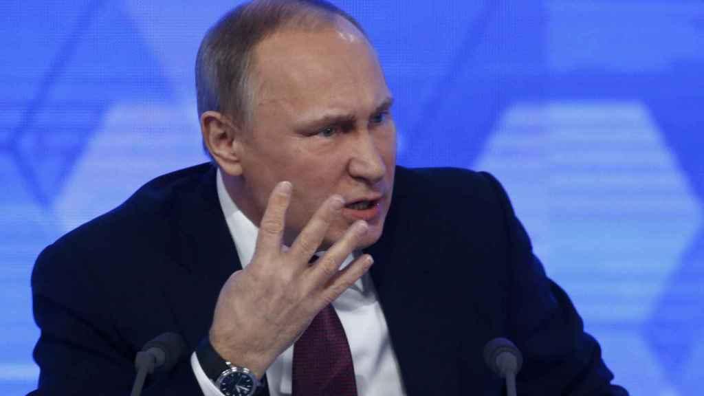 El presidente ruso, durante una rueda de prensa.