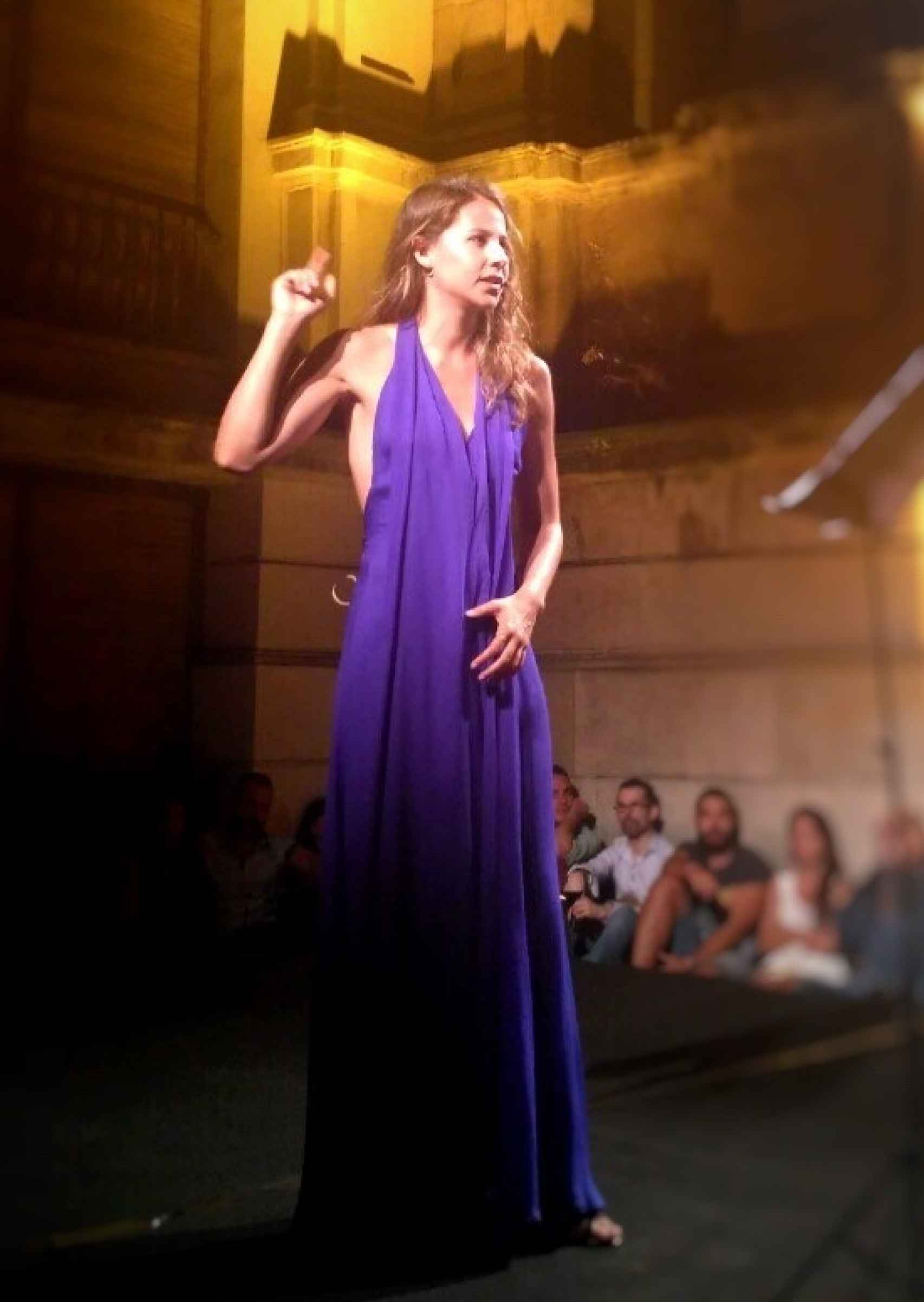 Irene Escolar durante su actuación de Leyendo a Lorca.