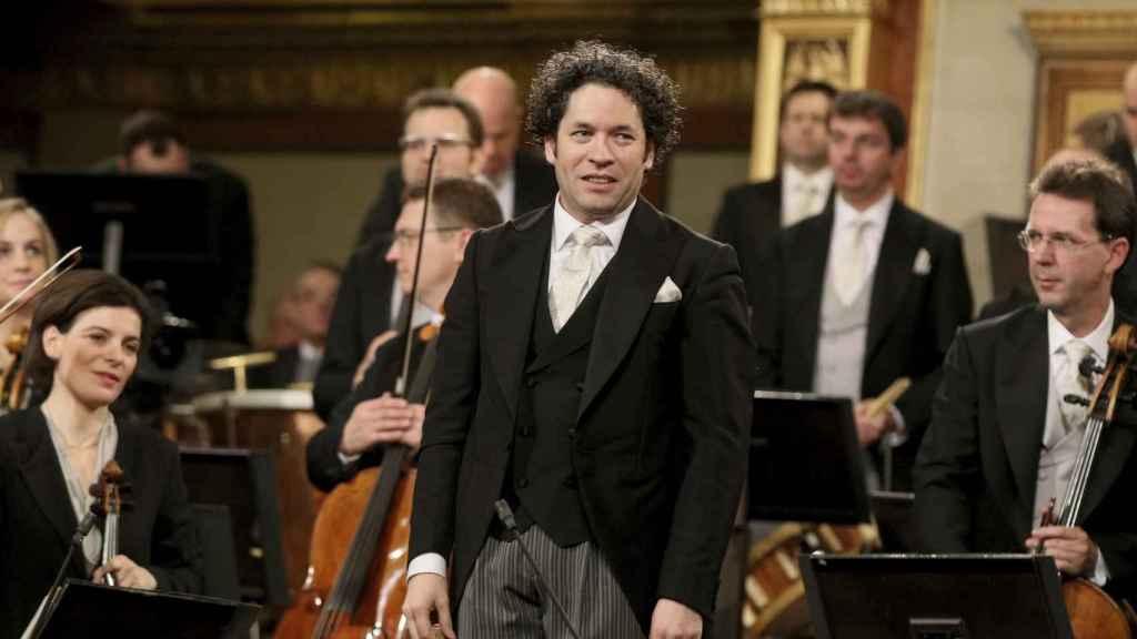 Gustavo Dudamel durante el concierto de Año Nuevo en Viena