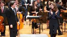 Gustavo Dudamel y María Valverde hace una semana en el concierto de Navidad en Venezuela
