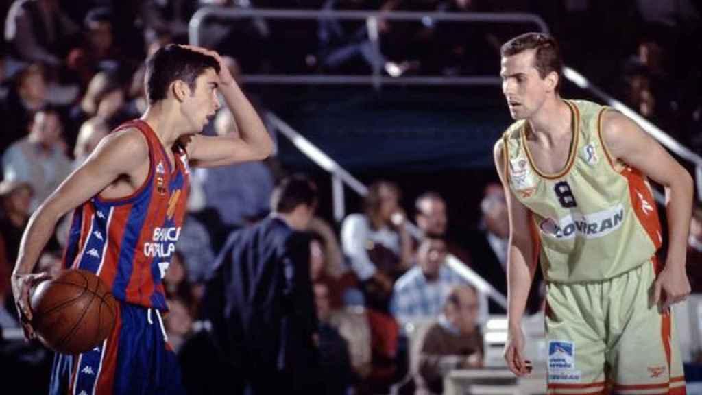Juan Carlos Navarro en su debut en la ACB.