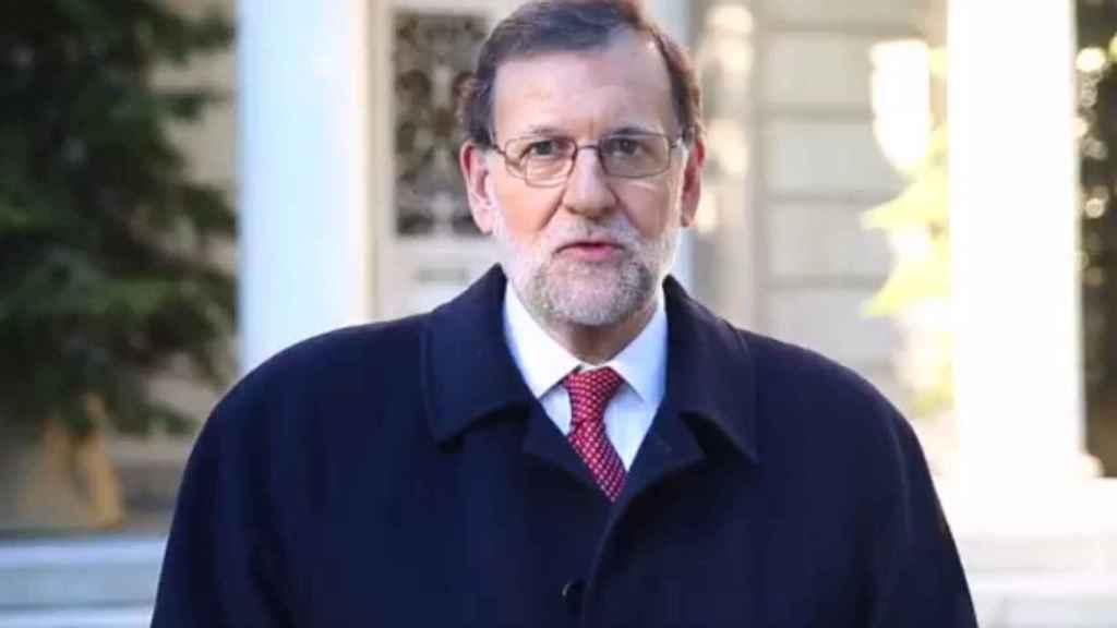 Imagen del navideño vídeo compartido por el presidente del Gobierno.