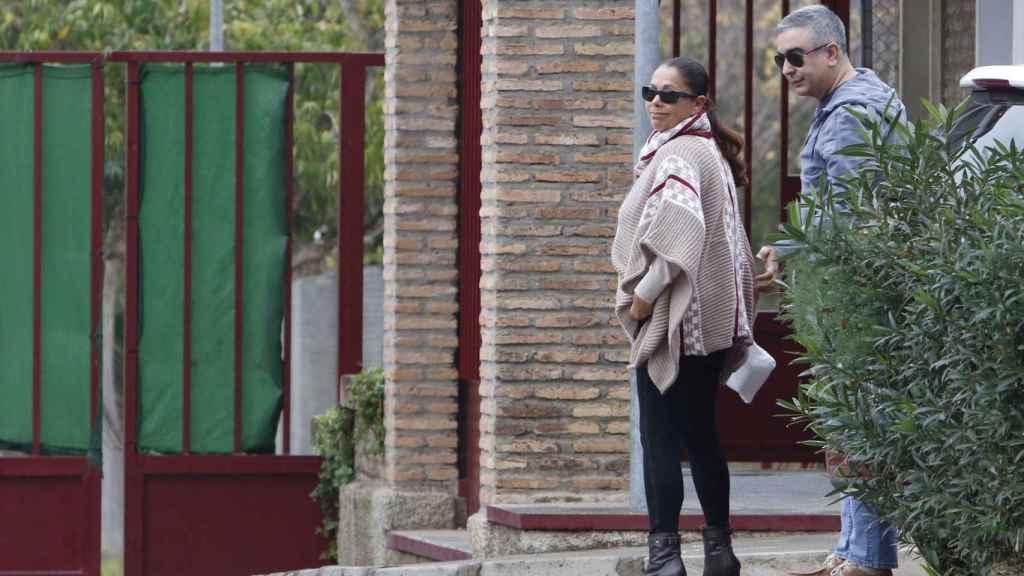 Isabel Pantoja, a su salida de prisión.