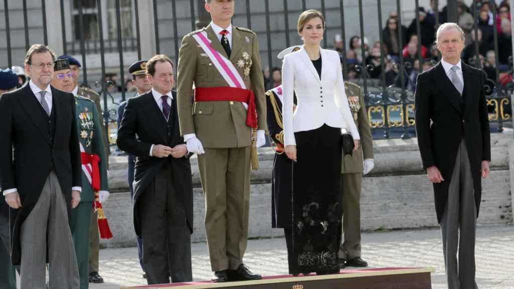 Los reyes don Felipe y Doña Letizia presidieron la Pascua Militar el año pasado