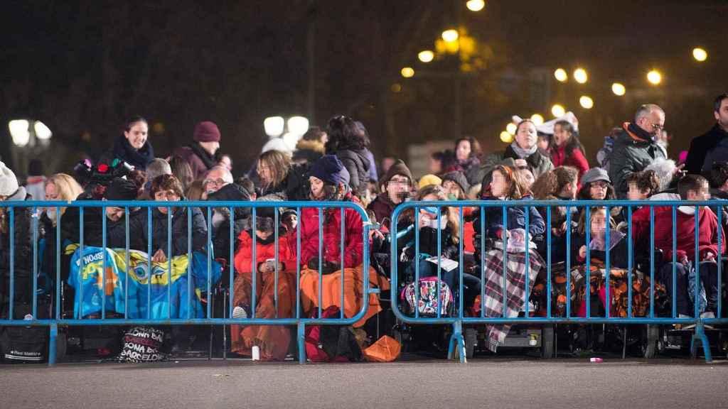 La primera fila en la cabalgata del Ayuntamiento de Madrid.