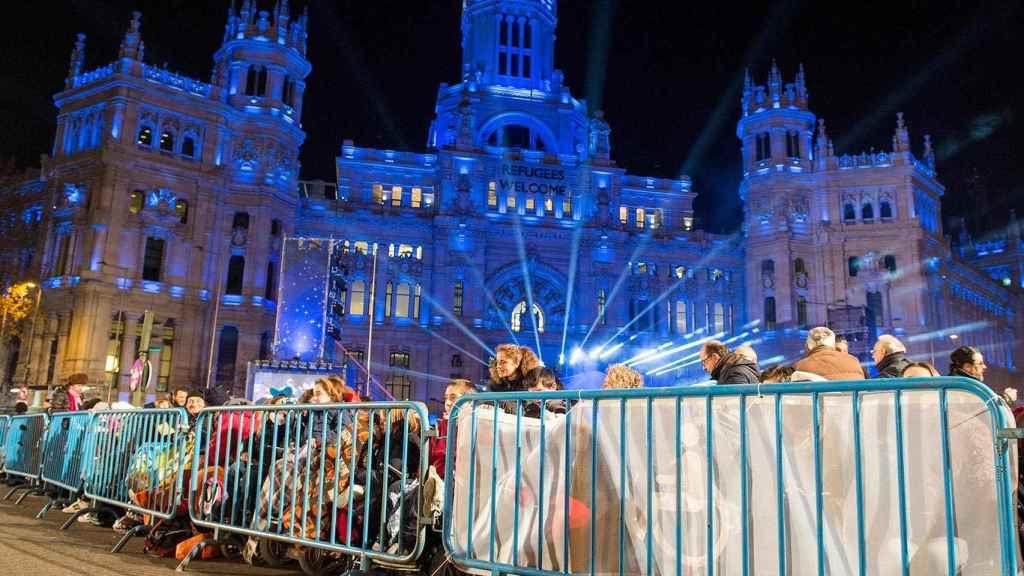 La primera fila de la cabalgata en Madrid, reservada para discapacitados