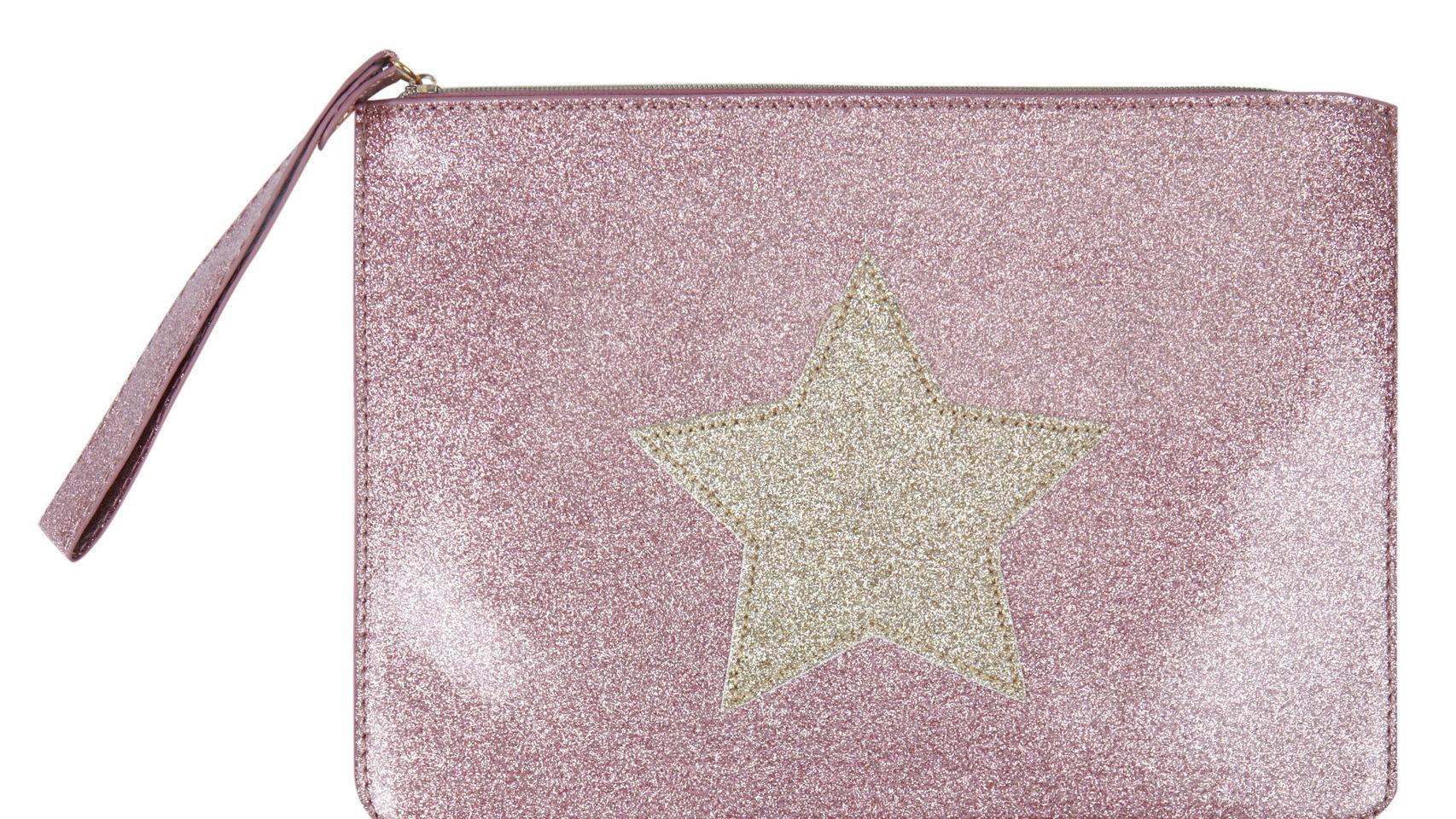 Neceser brillante con estrella de Woman Secret. 17,99 euros.