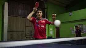 Gonzalo Rodríguez durante un entrenamiento en su club deportivo