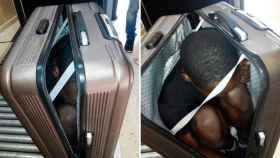 Fosseni Touré, el costamarfileño que hace una semana cruzó la frontera de Ceuta dentro de una maleta.