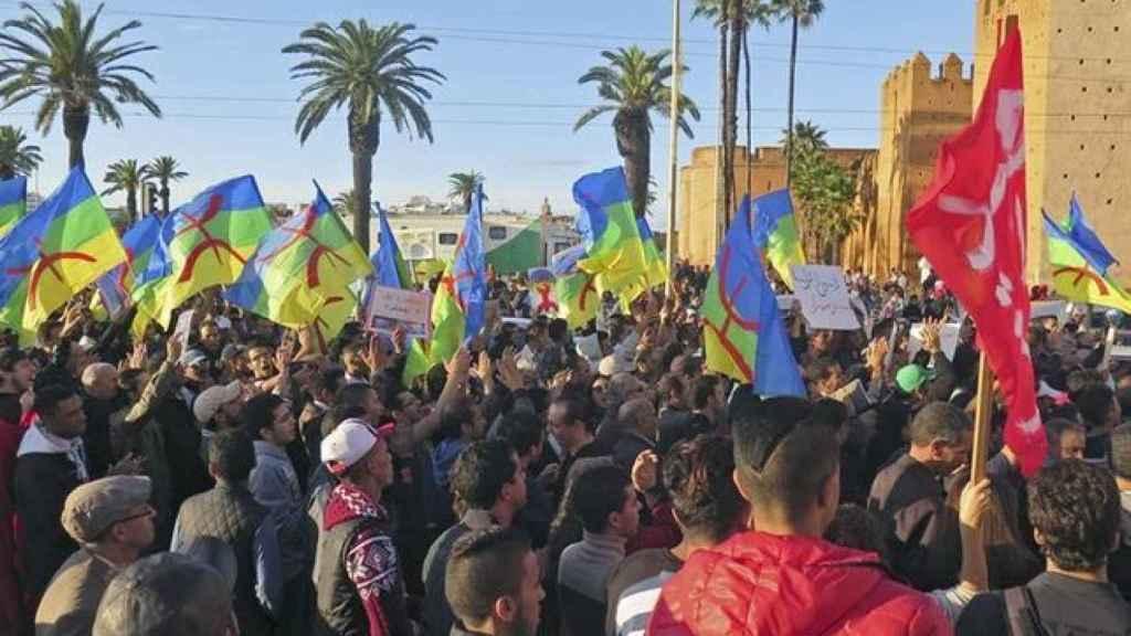 Protestas en las calles de Rabat