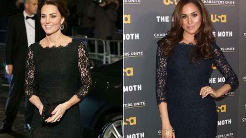 Kate Middleton y Meghan Markle con un vestido similar.