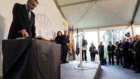 El nuevo delegado del Gobierno en Euskadi, Javier de Andrés, durante el acto de toma posesión de su cargo.