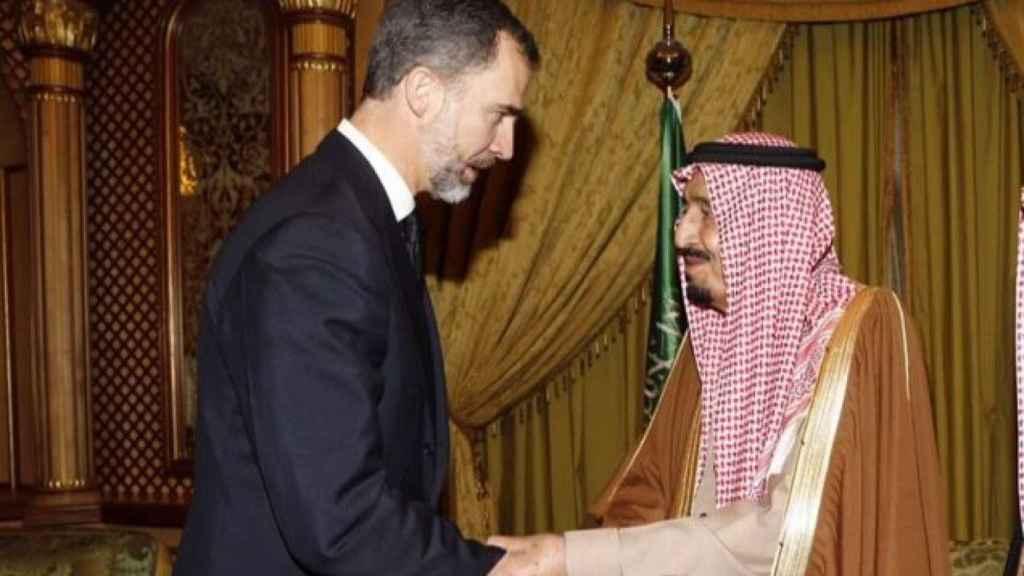 Felipe VI con el rey Salman