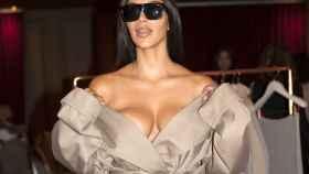 Kim Kardashian en la Fashion Week de París en octubre.