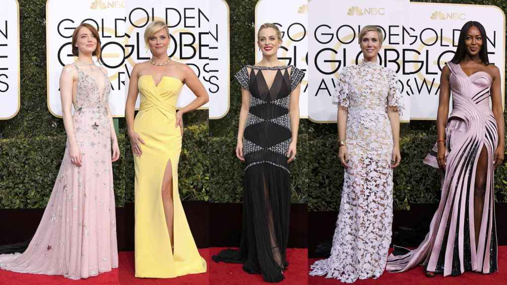 Emma Stone, Reese Witherspoon, Riley Keough, Kristen Wiig y Naomi Campbell