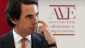 José María Aznar durante su discurso en Valencia.