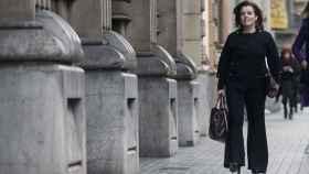 Soraya a su llegada a la reunión con Junqueras