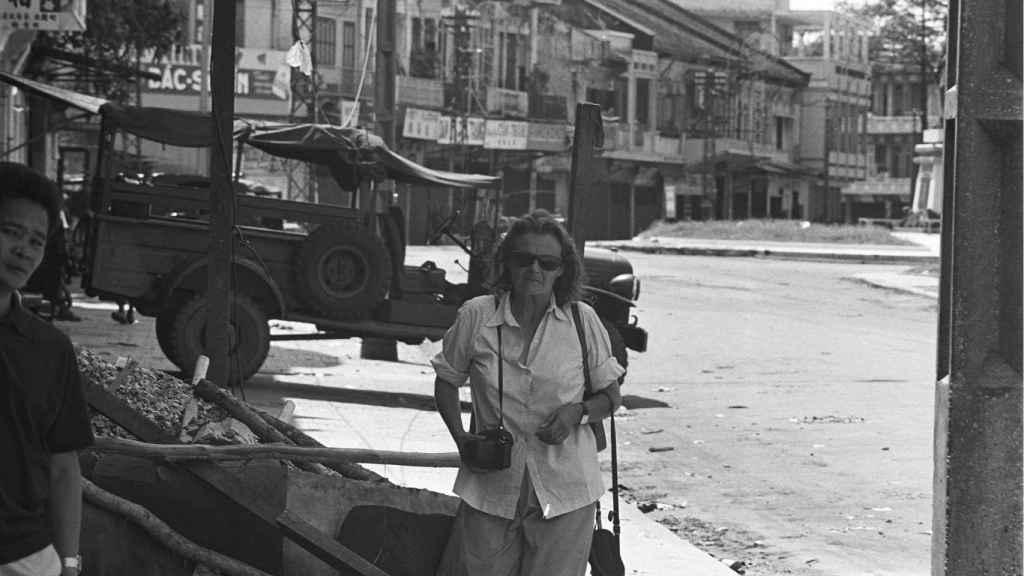 Clare Hollingworth en una imagen de 1968 en Vietnam