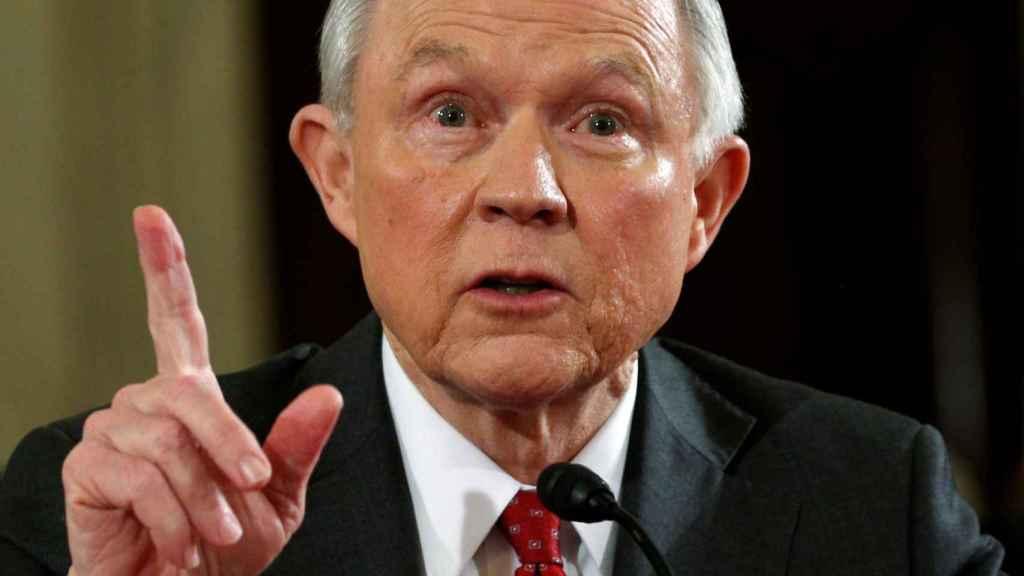 Sessions, durante su comparecencia en el Senado