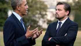 Obama, con Leonardo DiCaprio en la Casa Blanca