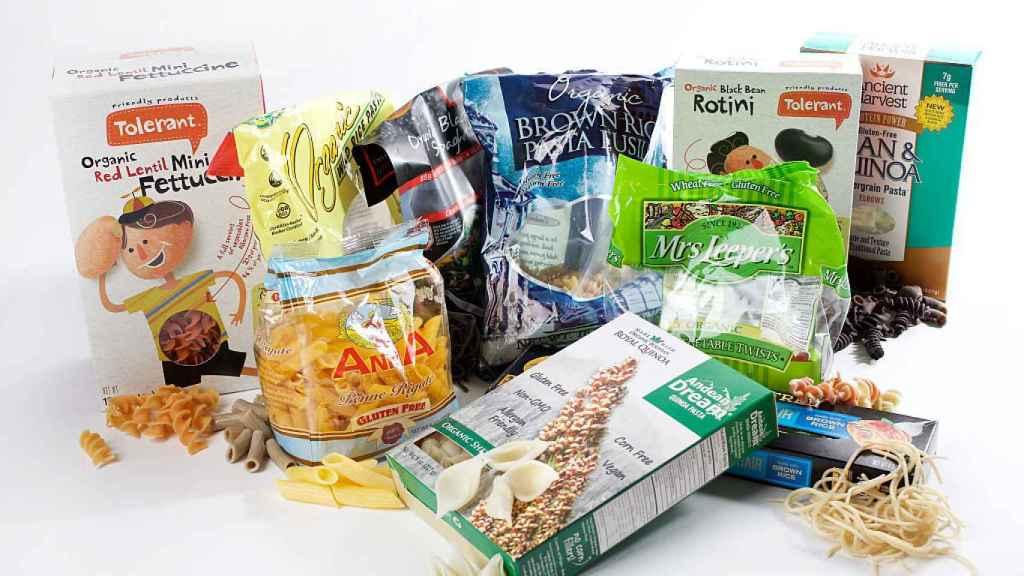 Una variedad de productos sin gluten.