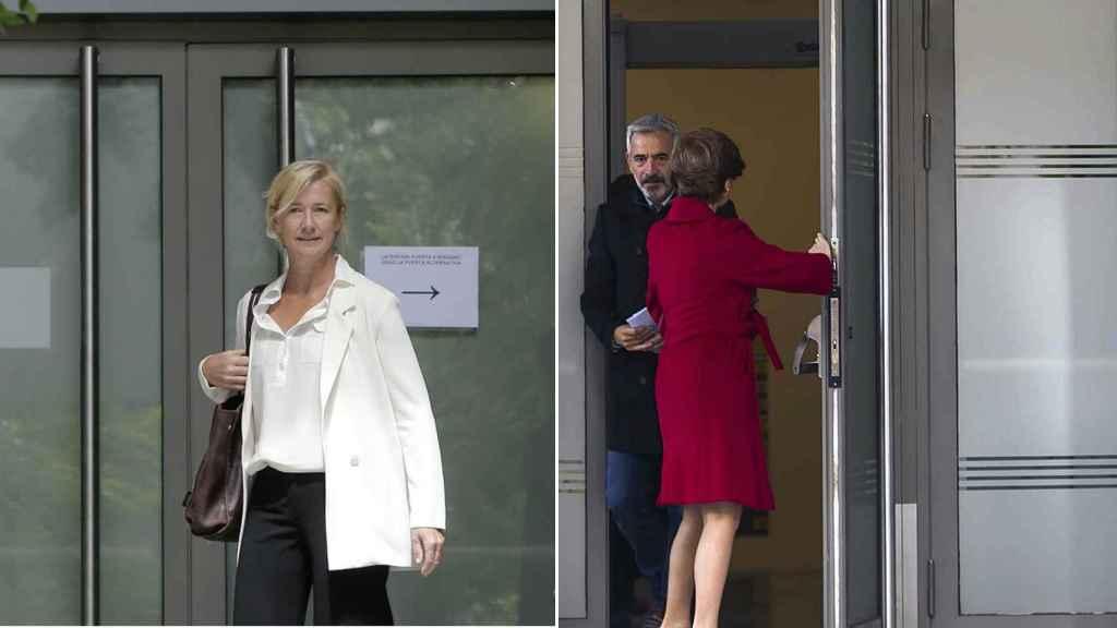 Ana Duato e Imanol Arias saliendo de los juzgados de la Audiencia Nacional el 15 de junio.