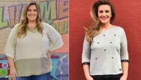 El antes y el después de Carlota Corredera