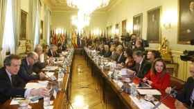 Reunión previa a la conferencia de presidentes.