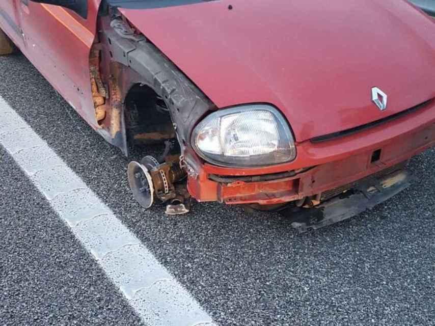 Imagen del estado en que se encontraba el vehículo